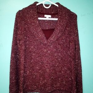 Charter Club Burgundy Sweater Sz MP